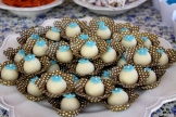 Doce de coco decorado
